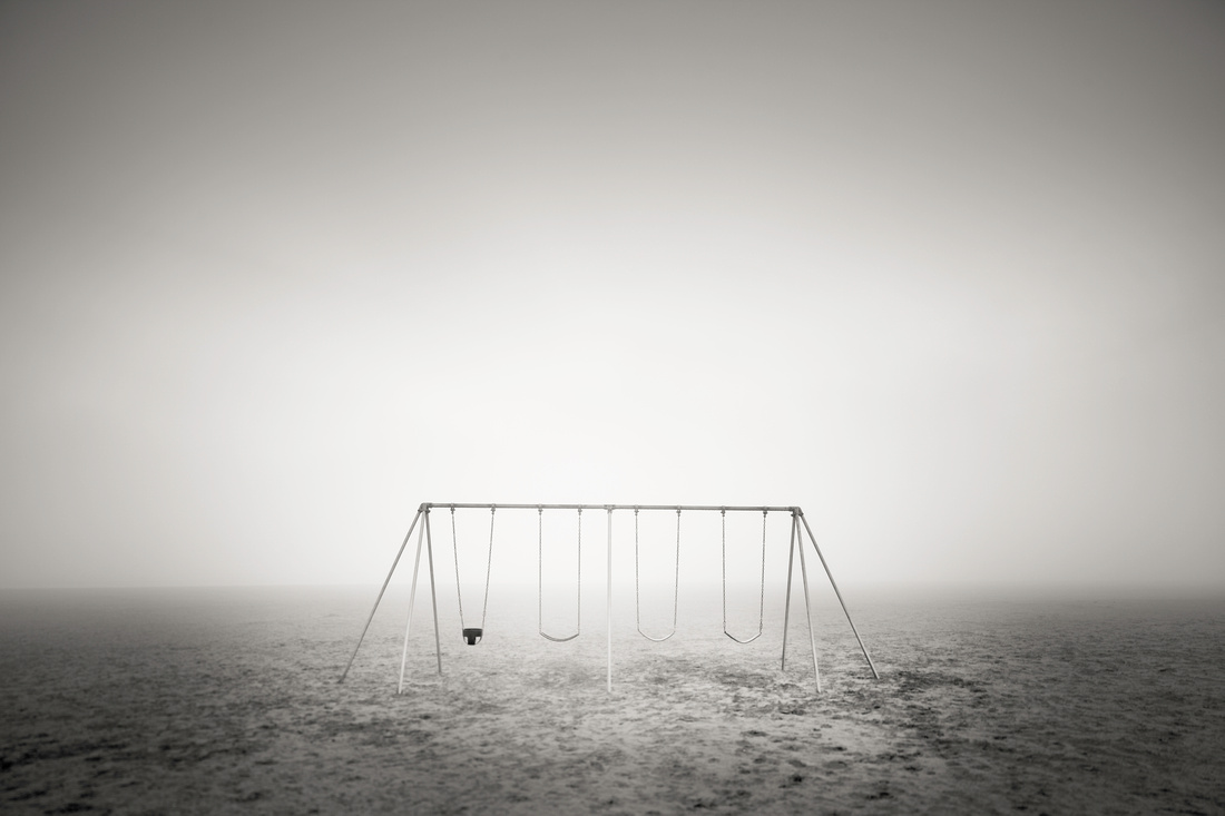 Oceanside Oregon Beach Swing in the Fog