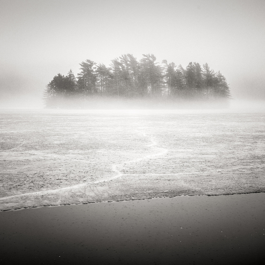 Seal Cove Pond Rain and Ice Fog